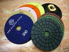 "5"" inch THK Diamond WET polishing pads pad wheel marble granite stone disc (AAA)"