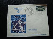 FRANCE - enveloppe 1er jour 21/3/1959 journee du timbre saint quentin (cy10)