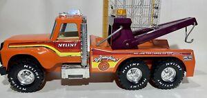 "Nylint ""Big Pumpkin"" Orange Tow Wrecker Recovery Service Truck - Pressed Steel"
