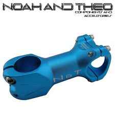 "N&T Bicycle 80mm Stem 28.6mm or 1-1/8"" to 31.8mm Cycling Road Handlebar MTB BLUE"