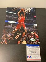 Jimmy Butler Miami Heat LeBron Dunk Autographed Signed 8X10 Photo PSA/DNA COA