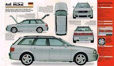Audi RS2/R.S. 2 Spec Sheet/Brochure/Prospekt:1994,1995,