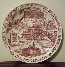 Independence Missouri Souvenir Plate VTG Vernon Kilns Truman Pioneers Tyler's