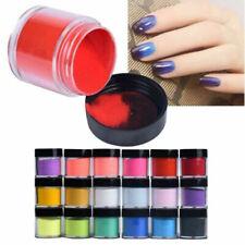 18 Pure Color Acrylic Nail Art Tips Uv Gel Powder Dust Design Decor Diy Manicure
