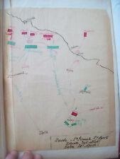 1813 GERMANIA MAPPA ESERCITO NAPOLEONICO NELLE BATTAGLIE DI DRESDA E DI KULM