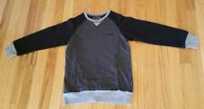 EUC Big Boys DKNY Black and Grey Tweed Pullover Sweatshirt Size Small