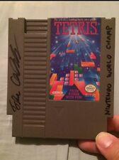 Thor Aackerlund 1990 Nintendo World Champion Signed Tetris NES Cartridge W/ Insc