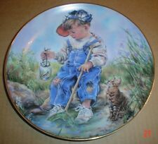 The Leonardo Collection Collectors Plate A GOOD CATCH By Christine Haworth