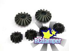 HARD STEEL DIFF DIFFERENTIAL BEVEL PINION GEAR 6PC TAMIYA TT02 TT02B TT02D TT-02