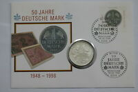 GERMANY FEDERAL 10 MARK 1998 COIN COVER B24 CG10