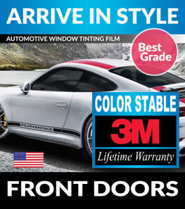 PRECUT FRONT DOORS TINT W/ 3M COLOR STABLE FOR GMC SIERRA 2500 CREW 15-19