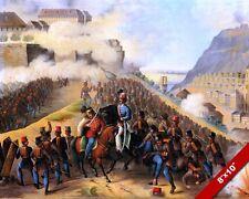 SEIGE OF BUDA HUNGARY OTTOMAN WAR BATTLE PAINTING ART REAL CANVAS PRINT