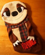 ADORABLE SLOTH STOCKING w/ Plaid Christmas Scarf Country Holiday Home Decor NEW