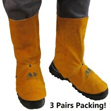 """AP-9400-3P FR 9""""  leather Welding Leggings Spats Gaiter Shoe Protector   3 Pairs"""