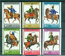 CHEVAUX & UNIFORMES - HORSES & UNIFORMS HUNGARY 1978  Hussars set A