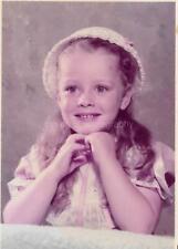 FOUND PHOTOGRAPH  Color YOUNG GIRL Original Portrait VINTAGE 06 28 N