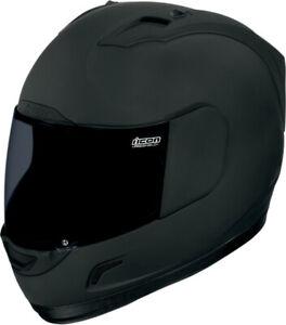 Icon Alliance Dark Motorradhelm Gr 3XL schwarz matt Fighter Helm mit Visier NEU