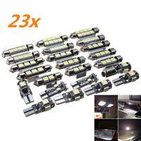 23X LED White Car Inside Light Kit Dome Trunk Mirror License Plate Bulbs Lamp CZ