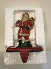 Vintage Brookstone Iron Kriss Kringle Mantel Christmas Stocking Hanger - Heavy!
