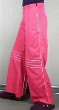 Hot Pink  Flared Trousers  Silver Piping   Size S   Cosplay Psy Rave Festival