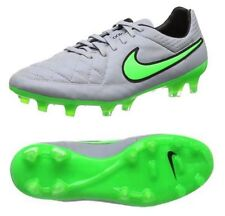 New Nike Tiempo Legend V FG Soccer Football Cleats Boots Size 4 Grey Green