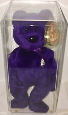 "Original Ty Beanie Baby Bear ""Princess Diana"" 1997, Authentic w/Hard case (Rare)"