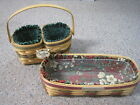 2 Royce Craft Christmas Holiday Baskets - 2002&2004 Liners & Plastic Protectors