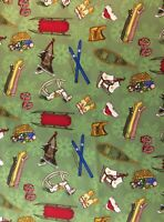 "South Sea Imports 100% Cotton Quilt Fabric Camp Christmas 20"" X 44"""