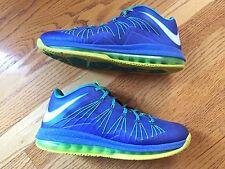 EUC Nike Air Max Lebron X 10 Low Sprite sz 10 Volt Blue 579765-500 cork what the