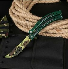 CS GO Boreal Forest Balisong Butterfly couteau Skin Real Knife Striker Entraîneur