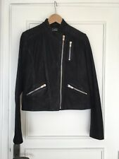 THE KOOPLES Perfecto blouson cuir  zip noir black moto Lamb leather Jacket