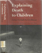 Explaining Death To Children by Earl A. Grollman, 1968, Dust Jacket