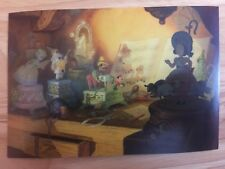 POSTCARD-UNUSED DISNEY-PINOCCHIO, 1940 GEPPETTO'S TOY SHOP, BACKGROUND PAINTING