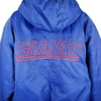 New York NY Giants Puffer Jacket Vintage 90s Parka Game Day Fans Gear Medium