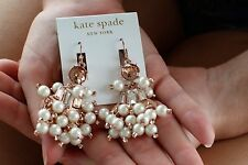 Earrings Blush Huge Dangle Party! Nwt Kate Spade Pop Fizz Clink Clink Statement