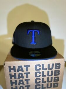 Exclusive New Era Texas Rangers 7 1/8 Blue UV Non Hatclub, Myfitteds, Blue UV
