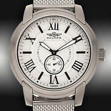 NEW Balmer 14058 Mens Noble Collection Swiss Chronograph White Dial Silver Watch