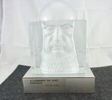 schöne alte Glas-Figur Leonardo Da Vinci Daum Limitierte Auflage