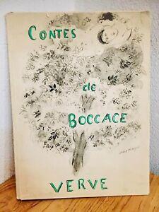 Marc Chagall 1950 Jacques Prévert rare Revue Verve Contes de Boccace 26 Gravures