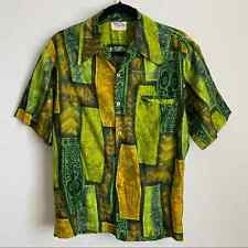 New listing Vintage Tiki Style Hawaiian Shirt from Barefoot in Paradise, size Medium