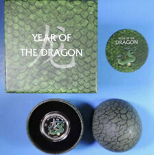 2012 Niue Proof Year of the Pearl Dragon $2 1/2 oz  .999 Silver Coin in Egg Case