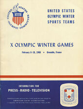 Olympic Games Olympische Spiele Grenoble 1968 Teambuch Book USA