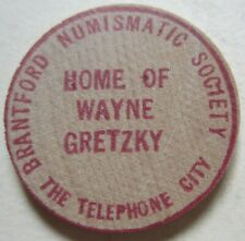 GOOD FOR ONE CUP OF COFFEE HOME OF WAYNE GRETZKY WOODEN TOKEN  (K1670)