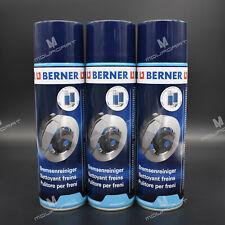 3 x 500ml BERNER BREMSENREINIGER 500ml DOSE TEILE REINIGER Brake Cleaner