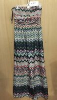Fire Los Angeles Sz M Strapless Chevron Maxi Dress size M NWT