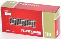 Fleischmann H0 6102-S Gerades Gleis, Länge 105 mm (10 Stück) - NEU + OVP