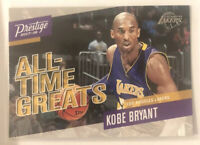 Kobe Bryant Los Angeles Lakers 2017-18 Panini Prestige All-Time Greats No.1 Card