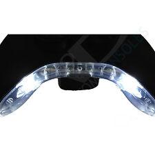 Xbox 360 PRE-CABLATO Joystick Bowtie / Mic Pezzo LED Modifica (Bianco)