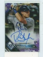 RICHIE SHAFFER 2016 Topps Chrome Purple Refractor Auto Autograph #D /250