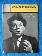 A Thurber Carnival - ANTA Theatre Playbill w/Ticket - February 29th, 1960
